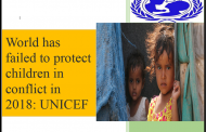 World has failed to protect children in conflict in 2018: UNICEF