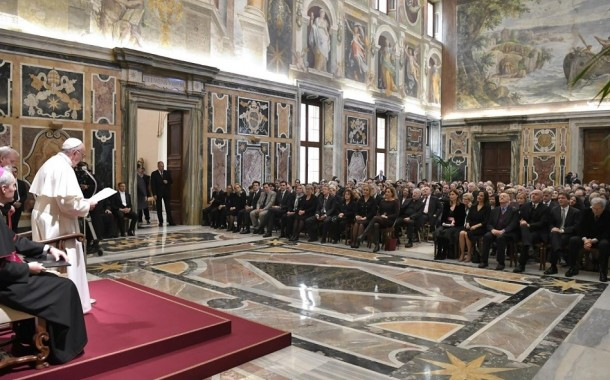 Pope Francis urged journalists to be the voice of victims
