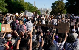 Demonstration against racism in US 2020