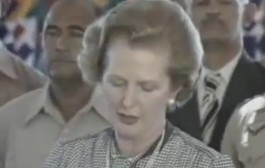 Thatcher delivered a speech in front of homeless Afghans