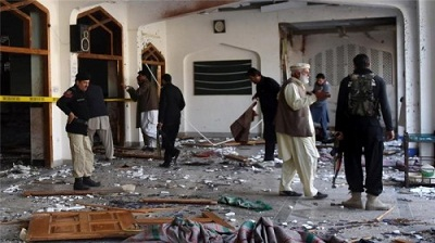 Deadly attack at Pakistan mosque; at least 19 killed