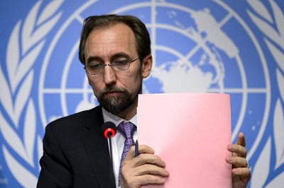 The UN High Commissioner for Human Rights called for better leadership of combating the causes of the atrocities