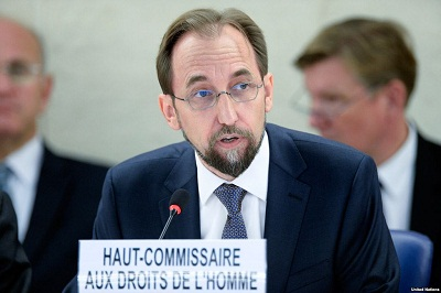 Zeid deplores killing of protestors in Egypt