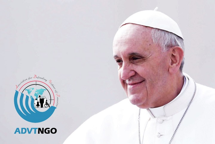Latter of ADVT to Pope Francis