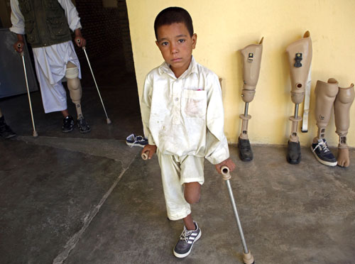 Majority of the casualties of mines in Afghanistan are children