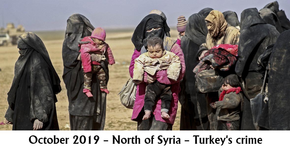 October 2019 – North of Syria – Turkey's crime