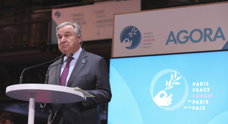 Multilateralism must weather 'challenges of today and tomorrow' Guterres tells Paris Peace Forum