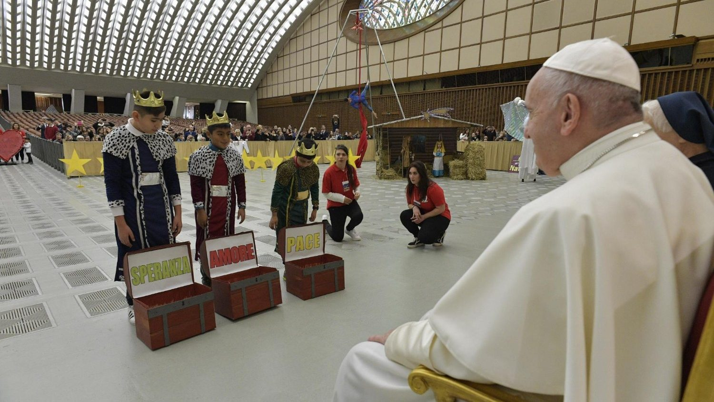 Italy - Vatican's Paul VI hall – Christmas 2019