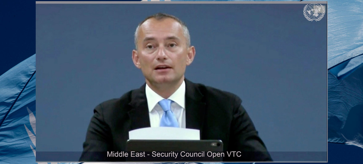 Nickolay Mladenov, calls Israel Plan to the West Bank as Violation of International Law