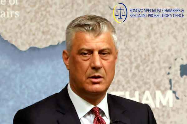 Kosovo Specialist Chambers charged Hashim THAÇI with crimes against humanity and war crimes