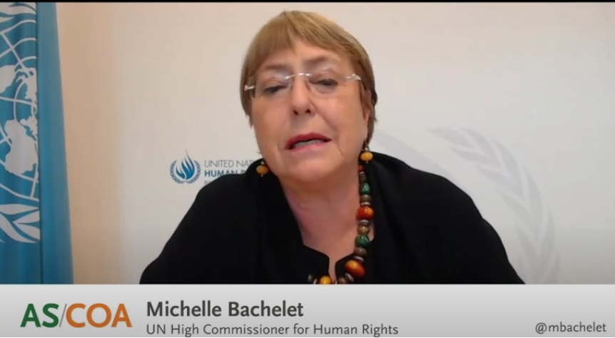 Bachelet: we promote victim centred justice