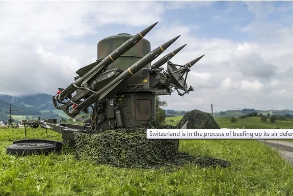 Switzerland 14th biggest exporter of weapons in the world
