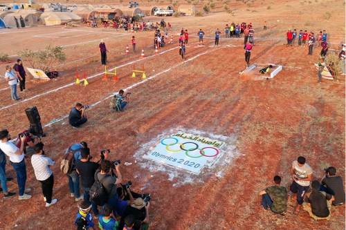 Syrian children hold 'Tent Olympics' of the displaced